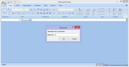 đặt pass cho file excel