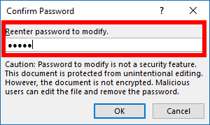 cách đặt password cho file excel