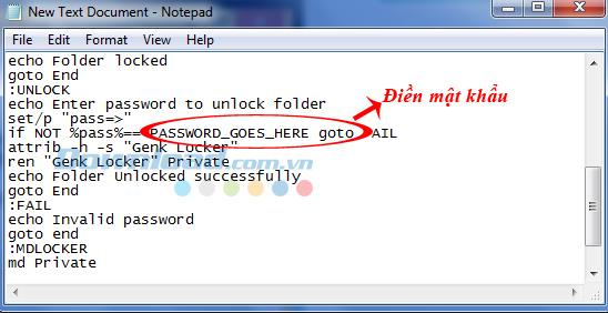cách cài đặt pass cho folder