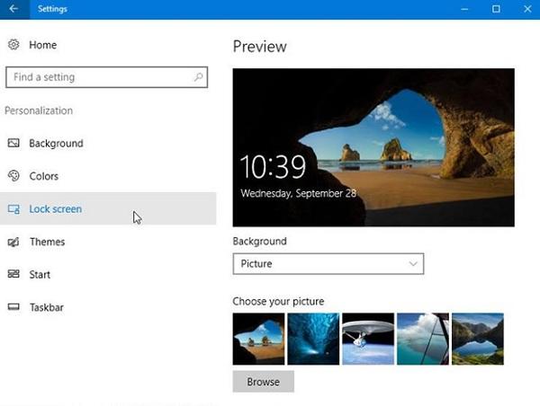 Cách khóa màn hình máy Win 10 qua chế độ bảo vệ màn hình