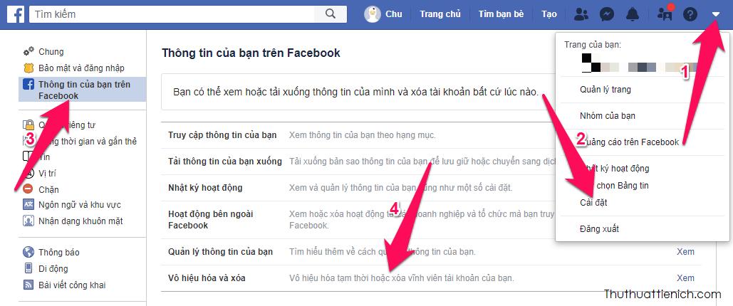 Cách khóa tài khoản FB